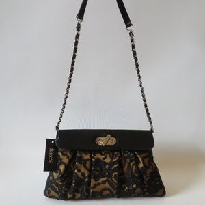 NWT WOMENS FRANCHI SILK/LACE EVENING SHOULDER BAG*